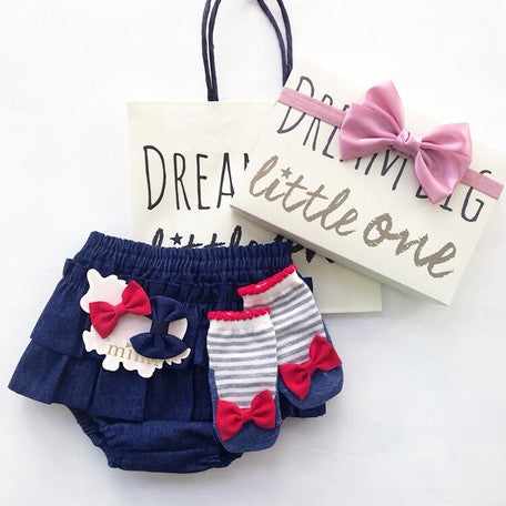 Platinum*Baby Denim/Bow Little One Box
