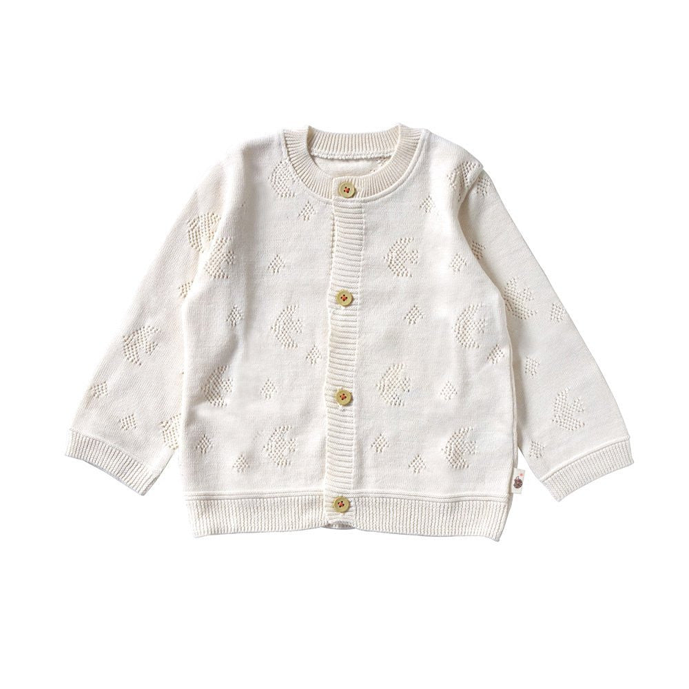 Hoppetta Plus organic cotton birdie cardigan