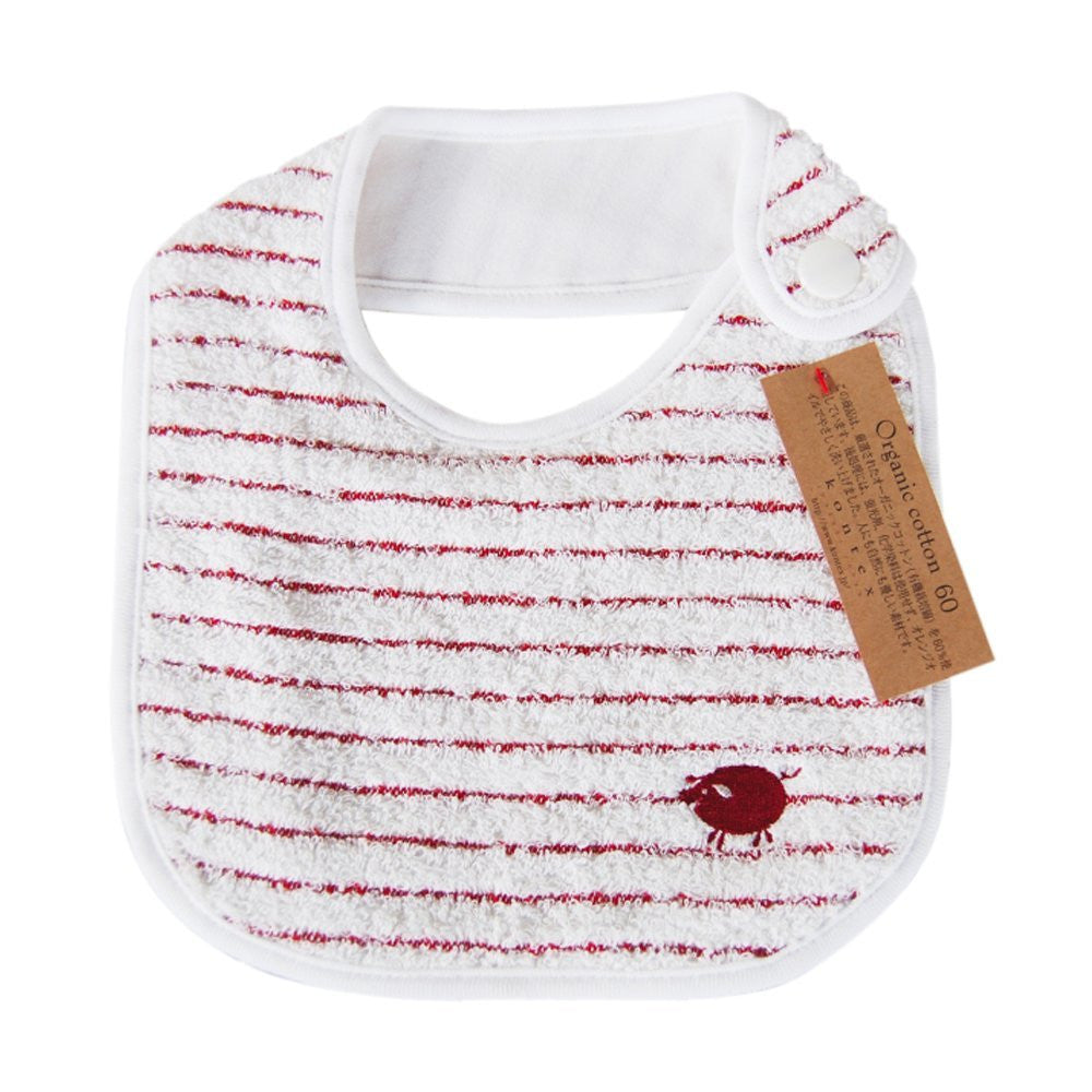 Imabari stripy bib in organic cotton