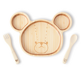 Funfam x The Bear's School bamboo tableware deluxe set