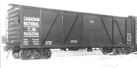 HK-10 - 40' 1929 Single Sheath Boxcar CN (Modernized) Kit