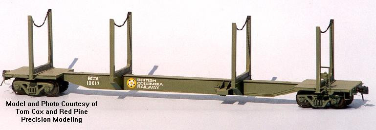 NK-05 - CPR/BCR 62' Skeleton Log Car (X2) Kit