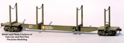 HK-08 - CPR/BCR 62' Skeleton Log Car (X2) Kit