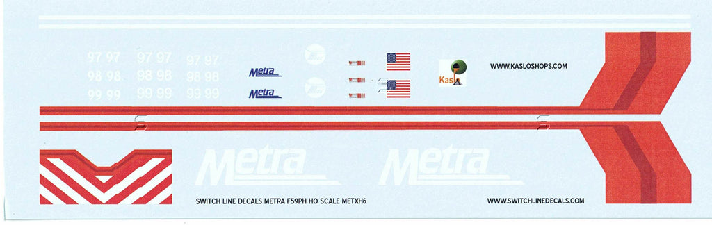 HDL-2 F59PH Metra Transit Decals