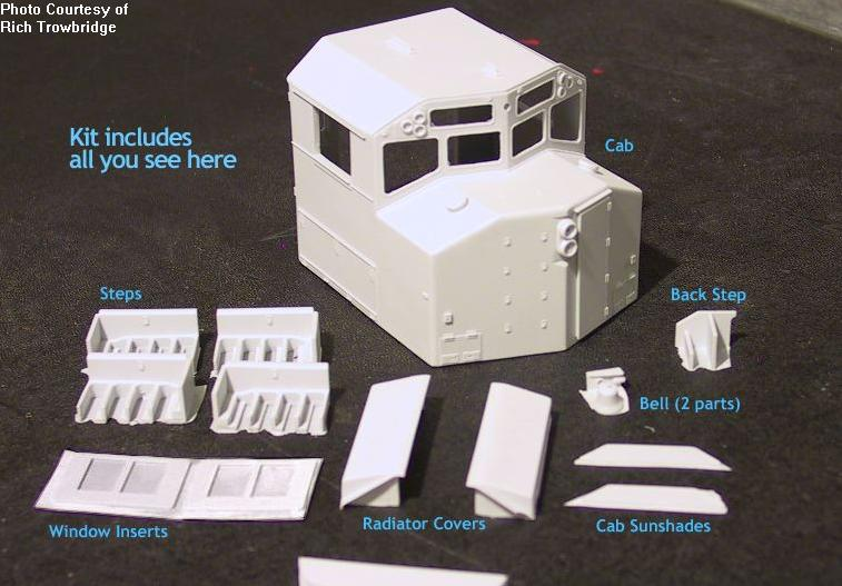 OC-01 - O Scale CN/GO Transit Wide/Safety Cab w/details Kit