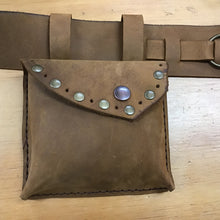 Load image into Gallery viewer, Leather Money Belt Pouch