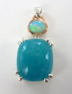 Opal and Amazonite Pendant Ai67