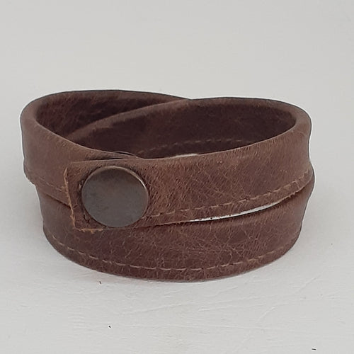 Leather Wrapped Wristbands