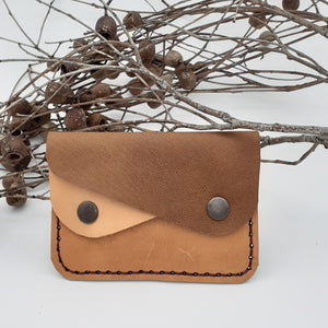 Double Pocket Leather Purse