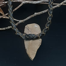 Load image into Gallery viewer, Spearhead Leather Necklace