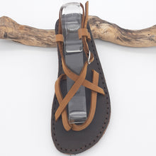 Load image into Gallery viewer, Leather Greek Sandals