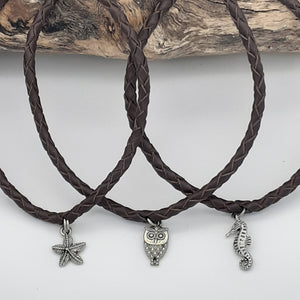 Leather Plaited Anklet