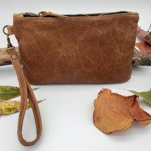Load image into Gallery viewer, Leather Zip Clutch