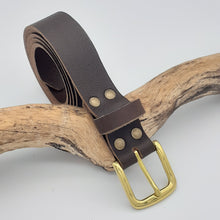 Load image into Gallery viewer, Buffalo Leather Belts Classic Brass