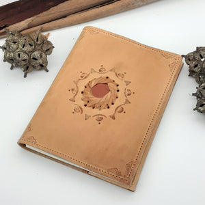 Leather Gemstone A5 Journal