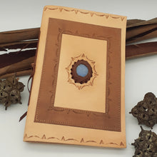 Load image into Gallery viewer, Leather Gemstone A4 Journal