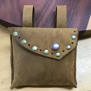 Leather Money Belt Pouch