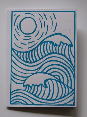 Hand Pressed Lino Print Cards