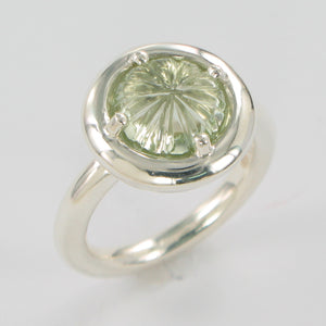 Carved Flower Ring Ai108B