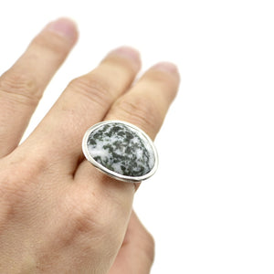 Flat Top Ring Stone Set Ai116