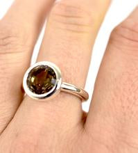 Cup Ring with Smokey Quartz Ai13S
