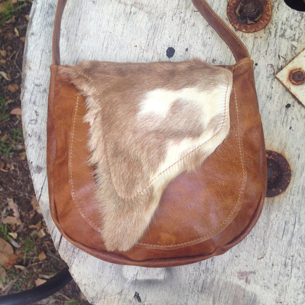 Leather Natural Fur Bag
