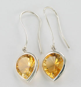 citrine concave cut