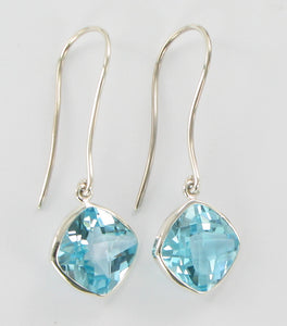 Blue Topaz cushion cut