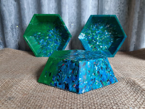 Recycled Plastic Hex Bowl Small