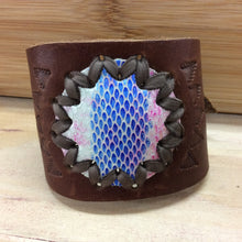 Load image into Gallery viewer, Leather Sun Cuff