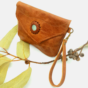 Leather Gem Clutch