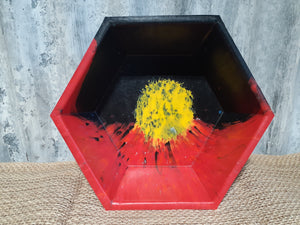 Recycled Plastic Hex Bowl Large
