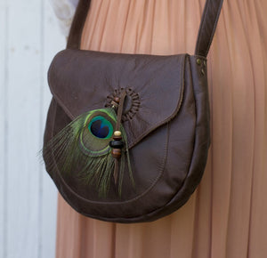 Leather Feather Bags