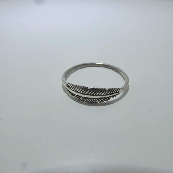 Silver Sisterhood Feather Ring
