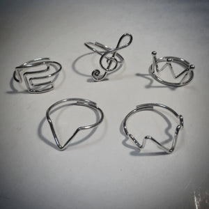 VR Silver Sisterhood Simple Rings