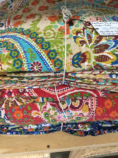 KT kantha  and pillow set