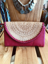Load image into Gallery viewer, Fuchsia Mandala Clutch