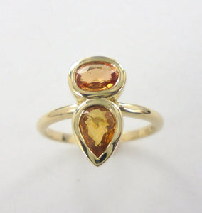 yellow sapphire commission ring in rosegold