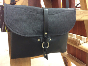 Leather Ring Clasp Bag