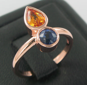 rosegold sapphire ring commission