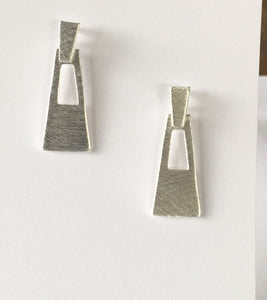 Brushed Silver Earring collection Ai318