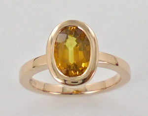 Golden Gemstone Ring Ai290