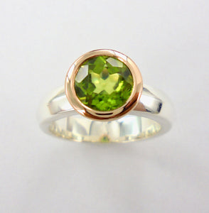 Summer Ring 2 tone with Peridot Ai311