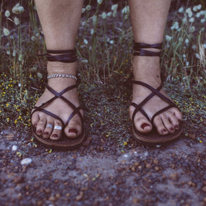 Leather Strappy Roman Sandals