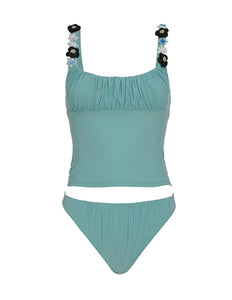 Shirr Tankini Set