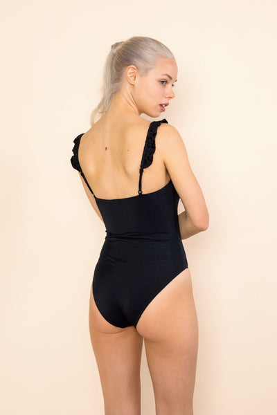 Ruffle Strap One Piece