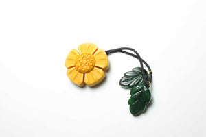 Sunflower Dangle Hair Tie