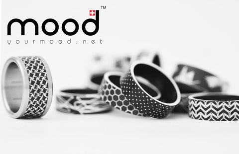 collection black and white par mood collection bague interchangeable originale