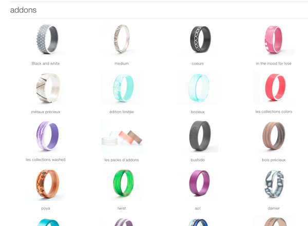 addons for mood customizable ring