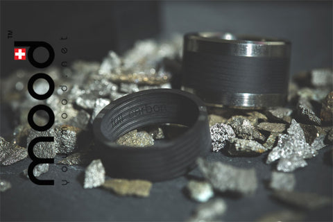 bague mood, full carbon // mood ring
